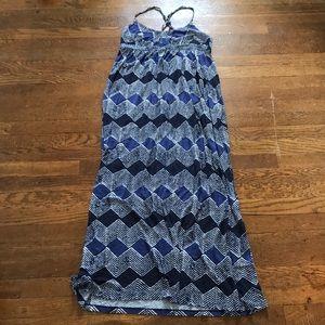 LOFT Small Blue Maxi Dress